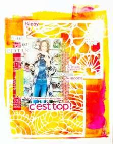 """Page art journal """"c'est top"""""""