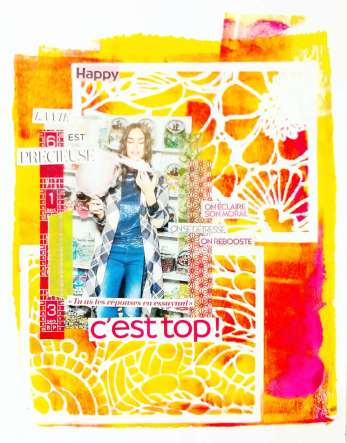"Page art journal ""c'est top"""