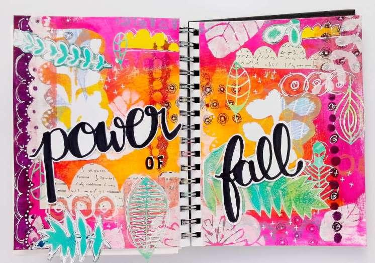 Art Journaling thème automne pour le Positiv Journal