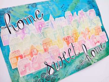"""Cadre """"Home Sweet Home"""""""