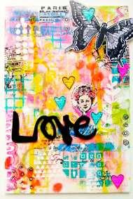 "Art canvas ""Love"""