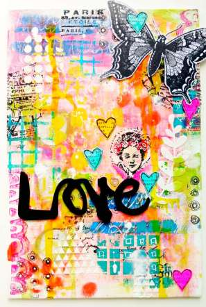"Art canvas ""Love"""