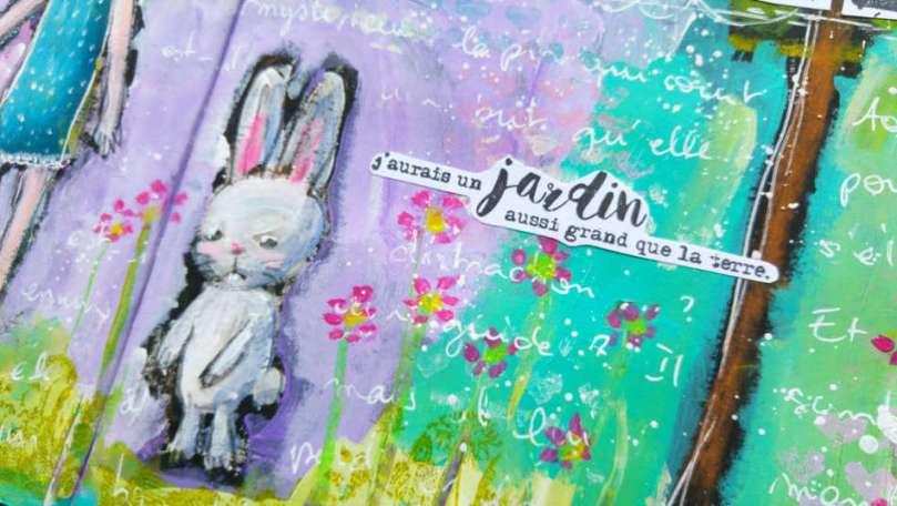 creation Follow the white rabbit - détail01
